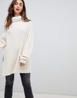 Free People Elevan oversized roll neck sweater