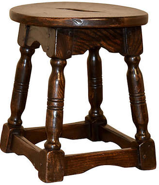 One Kings Lane Vintage 19th-C. French Stool - Black Sheep Antiques