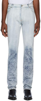 Balmain Blue 6-Pocket Degrade Jeans