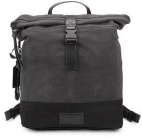 John Varvatos Suede & Ballistic Nylon Backpack