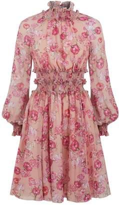 Giambattista Valli Floral Ruffled Dress