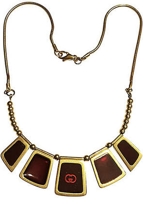 One Kings Lane Vintage Gucci Red Glass Necklace