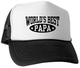 3eae6fa2497 CafePress - World s Best Papa - Trucker Hat