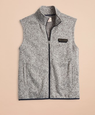 Brooks Brothers Zip-Up Fleece Sweater Vest