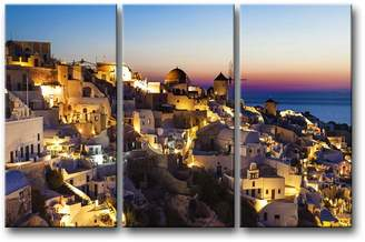 Santorini So Crazy Art 3 Pieces Wall Art Painting At Night Prints On Canvas The Picture City Pictures Oil For Home Modern Decoration Print Decor For Kids Room