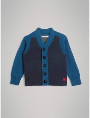 Burberry Colour Block Cotton Cardigan