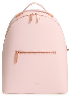 Ted Baker London Mini Jarvis Leather Backpack - Pink $269 thestylecure.com