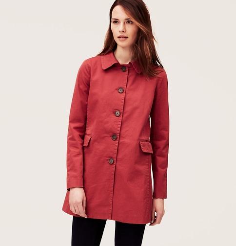LOFT Cotton Twill Trench Coat