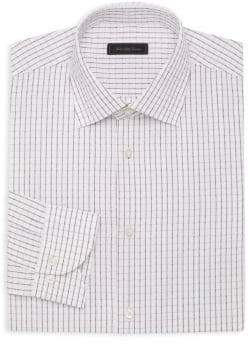 Saks Fifth Avenue COLLECTION Textured Grid Dress Shirt