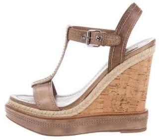 Miu Miu Platform Wedge Sandals
