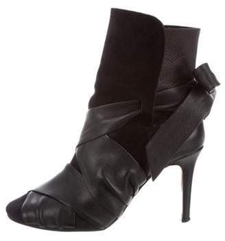 Isabel Marant Suede Wrap-Around Ankle Boots Black Suede Wrap-Around Ankle Boots