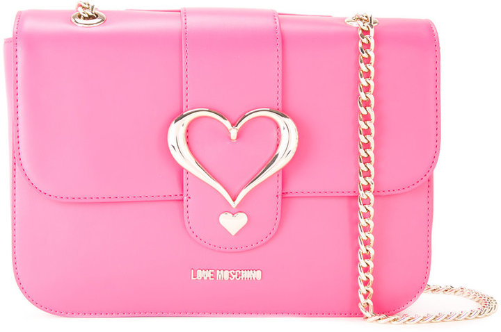 Love Moschino Love Moschino heart buckle shoulder bag