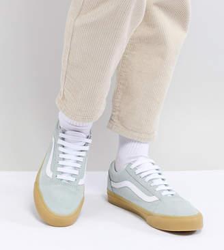 Vans Old Skool Pastel Blue Sneakers With Gum Sole