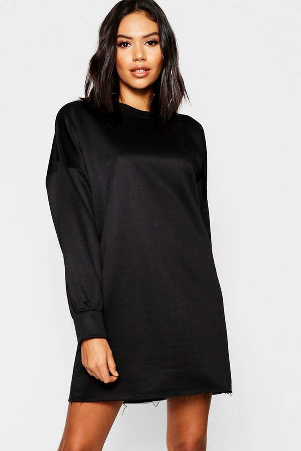 Oversized Balloon Sleeve Sweater Dress