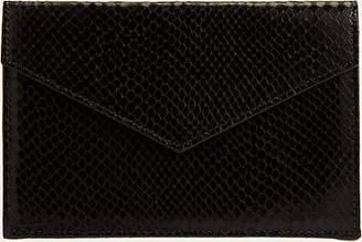 Barneys New York Men's Python-Embossed Medium Envelope - Black