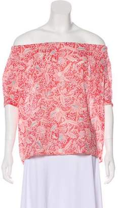 Tory Burch Paisley Short Sleeve Blouse