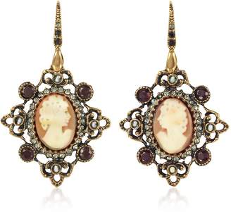Alcozer & J Cameo Earrings W/ Baroque Frame