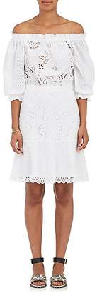 Saloni Women's Grace Cotton Eyelet Off-The-Shoulder Dress