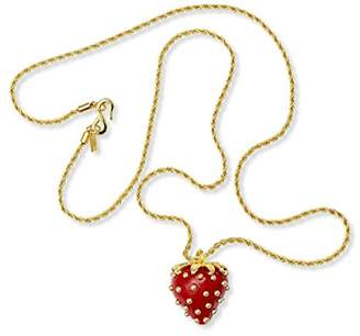 Kenneth Jay Lane Costume Jewelry Pendant Necklace Strawberry Necklace