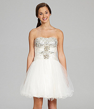 B. Darlin Sequin-Embellished Ballerina Dress