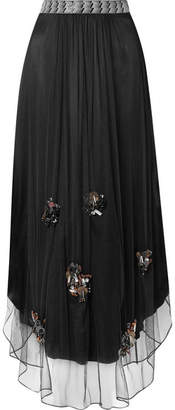 By Malene Birger Beverlyh Embellished Tulle Maxi Skirt - Black