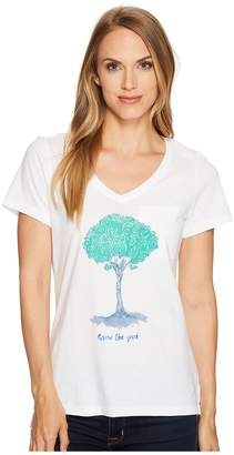 Life is Good Tree Pocket Vibe Tee Women's T Shirt