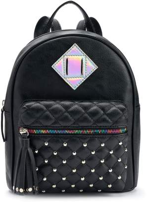 Quilted Studded & Iridescent Mini Backpack