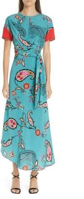 Etro Paisley Print Faux Wrap Dress