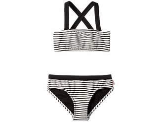 Seafolly Stripe Mini Tube Bikini (Little Kids/Big Kids)