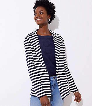 LOFT Striped Sweater Blazer