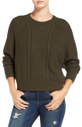 Women's Bp. Cable Knit Dolman Sweater $55 thestylecure.com