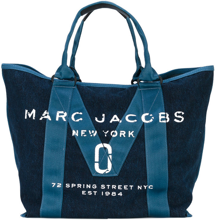 Marc Jacobs Marc Jacobs New Logo Denim tote