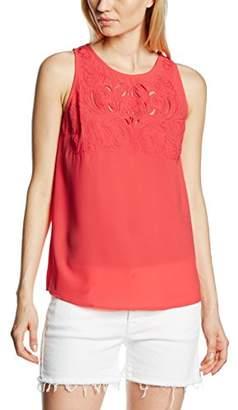 Molly Bracken Women's Plain Round Collar Sleeveless Vest - Orange