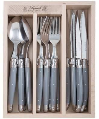 18 Piece Debutant Mirror Grey Cutlery Set