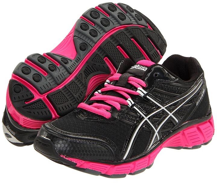 Asics Kids - Gel-Havoc GS (Youth) (Black/Black/Hot Pink) - Footwear
