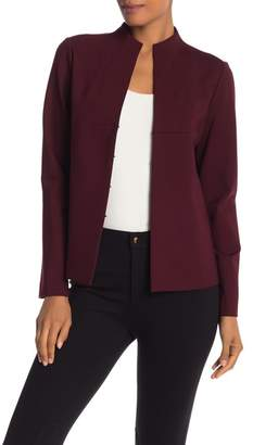 Lafayette 148 New York Split Neck Solid Knit Jacket