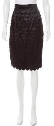 Magaschoni Textured Knee-Length Skirt