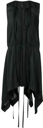 Vera Wang plunge mini dress