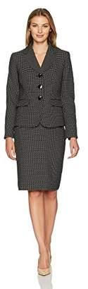 Le Suit LeSuit Women's Novelty Dot 3 Button Skirt Suit