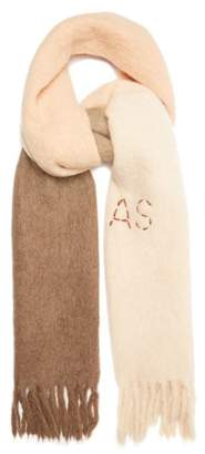 Acne Studios Kelow Dye Bi Colour Fringed Scarf - Womens - Beige