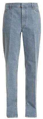 Toga - Mid Rise Straight Leg Striped Jeans - Womens - Navy White