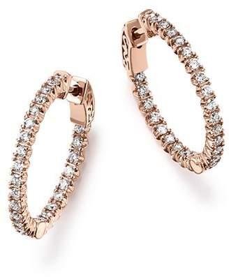 Bloomingdale's Diamond Inside Out Hoop Earrings in 14K Rose Gold, 1.0 ct. t.w. - 100% Exclusive