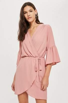 Love **Bell Sleeve V-Neck Wrap Dress