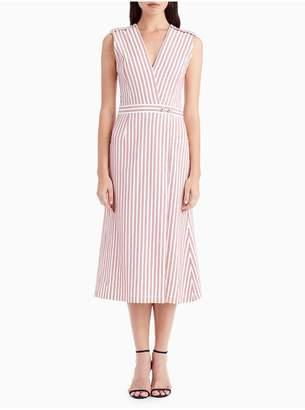 Jason Wu Cotton Shirting Sleeveless V-Neck Day Dress