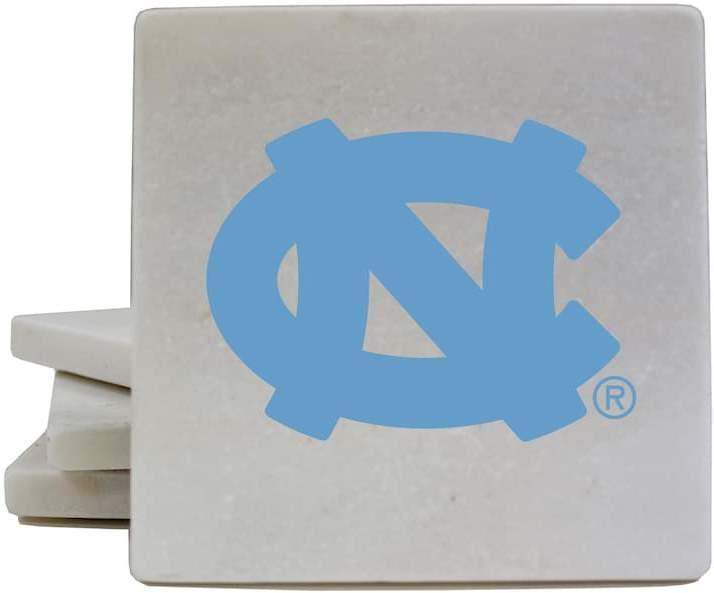 NCAA North Carolina Tar Heels 4-Piece Marble Coaster Set