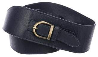Lela Rose Leather Buckle Belt