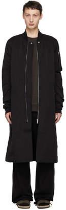 Rick Owens Black Flight Trench Coat