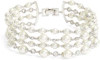 Jenny Packham Multirow Imitation Pearl Bracelet