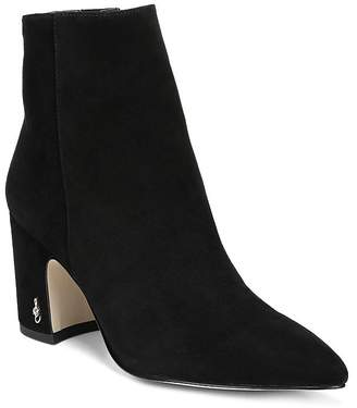 Sam Edelman Women's Hilty Pointed Toe Block High-Heel Ankle Booties