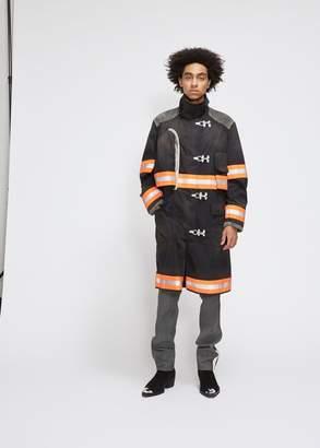 Calvin Klein Resin Coated Gabardine Long Fireman Coat